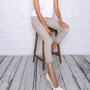 James Jeans Twiggy Crop Pink & White Striped Pants
